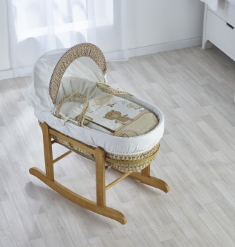 Tiny Ted Cream Moses Basket