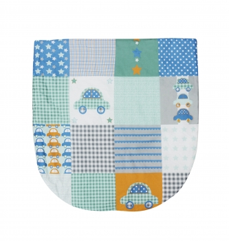 Patchwork Cars Moses Basket