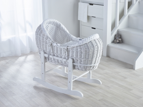 Dimple White, White Wicker Pod