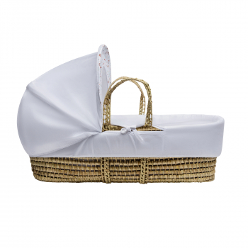 A Band of Colour Palm Moses Basket