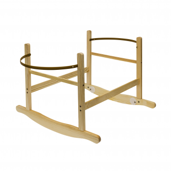Sleepy Little Owl Palm Moses Basket with Chester Rocking Stand Natural