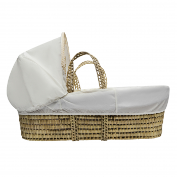 Teddy In Balloon Palm Moses Basket with Chester Rocking Stand Natural