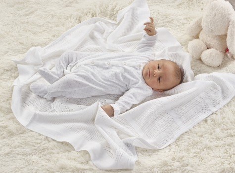 Cellular Blanket White