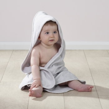 2 Pack Hooded Towel Grey