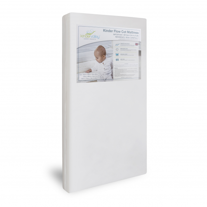 Sydney Compact Cot Natural and Kinder Flow Mattress