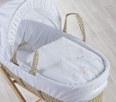 Rodger and Millie Blush Moses Basket