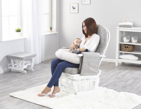 Grey Star V-Shape Nursing Pillow