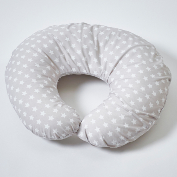 Grey Star Donut Nursing Pillow