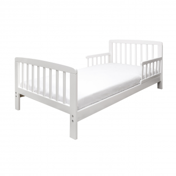 7 Piece Toddler Bed Bundle White - Woodland Tales