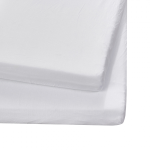 2 Pack Cotbed/Toddlerbed Sheets White