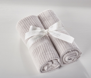 2 Pack Cellular Blanket Grey