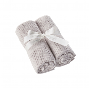 2 Pack Cellular Blanket Grey