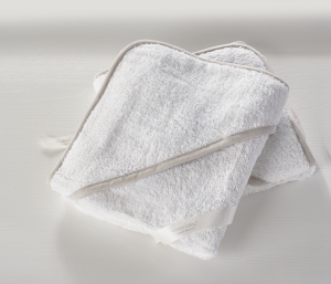 2 Pack Hooded Towel White