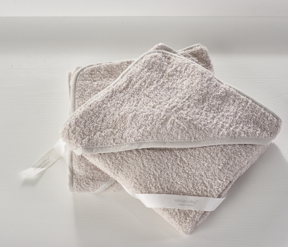 2 Pack Hooded Towel Grey