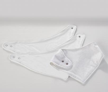 3 Pack Dribble Bibs White