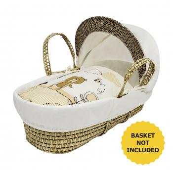 Tiny Ted Cream Moses Basket Bedding Set