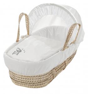 White Sleepy Sheep Palm Moses Basket