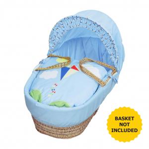 Blue Kite Moses Basket Bedding Set