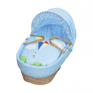 Blue Kite Moses Basket