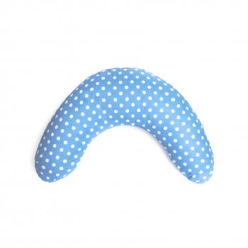 Blue Polkadot Spots & Stripes V-Shape Nursing Pillow