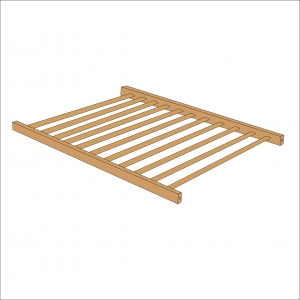 Sydney Compact Cot Base (Natural)