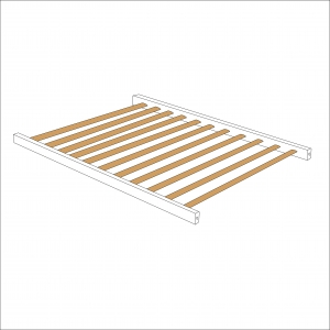 Sydney Compact Cot Base (White)