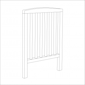 Sydney Compact Cot End (White)
