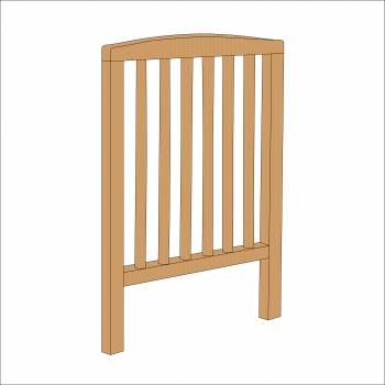 Sydney Compact Cot End (Natural)