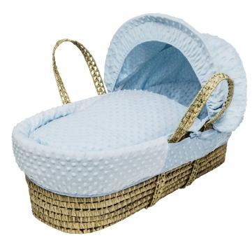 Dimple Blue Moses Basket Bedding Set