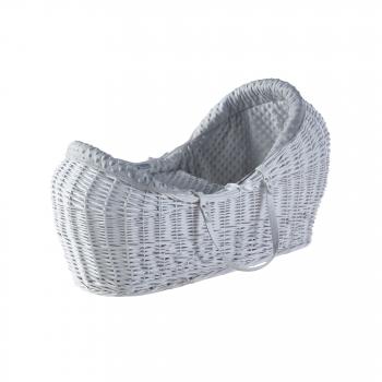 Grey Dimple White Pod Moses Basket