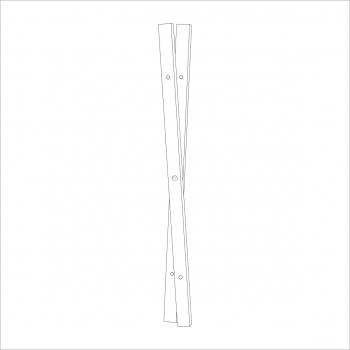 Opal Folding Stand Leg White