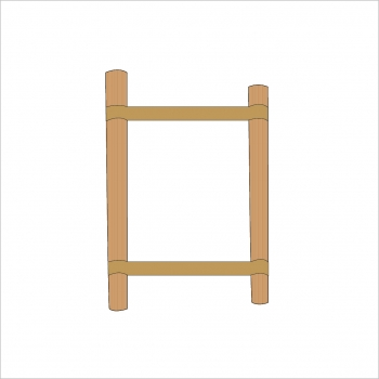 Opal Folding Stand Canvas and Supporting Dowels Natural