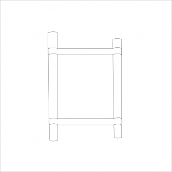 Opal Folding Stand Canvas and Supporting Dowels White
