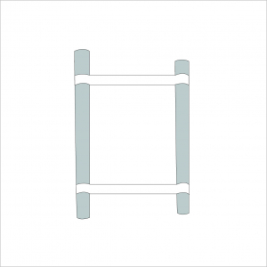 Opal Folding Stand Canvas and Supporting Dowels Grey