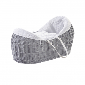 Honeycomb White, Grey Wicker Pod
