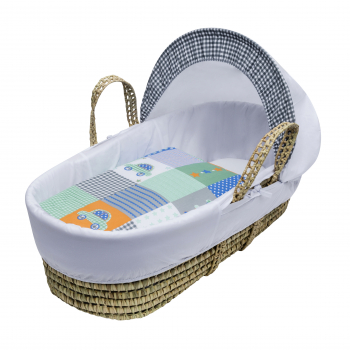 Patchwork Cars Palm Moses Basket