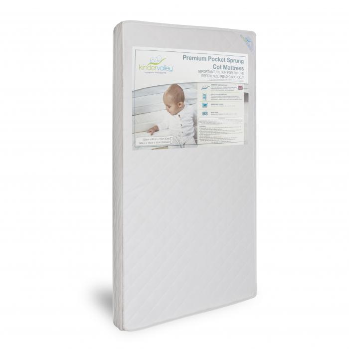 Premium Pocket Sprung Cot Bed/Toddler Bed Mattress