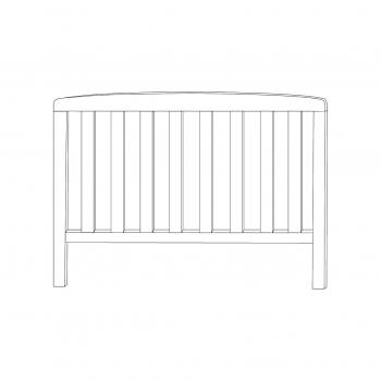 Sydney Toddlerbed Head End (White)