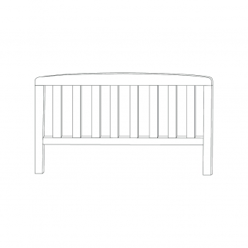 Sydney Toddlerbed Foot End (White)