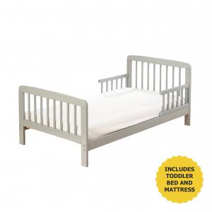 Sydney Toddler Bed Grey with Kinder Flow Mattress