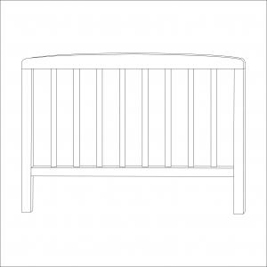 Sydney Toddler Bed Head End (White)