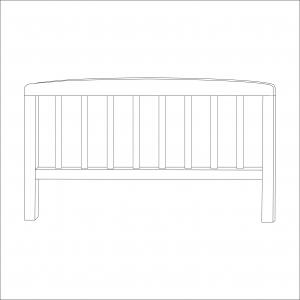 Sydney Toddler Bed Foot End (White)
