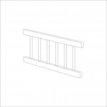 Sydney Toddler Bed Side Rail (White)