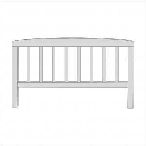 Sydney Toddler Bed Foot End (Grey)