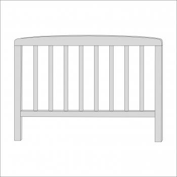 Sydney Toddler Bed Head End (Grey)