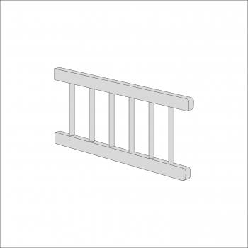 Sydney Toddler Bed Side Rail (Grey)